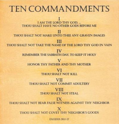 Ten Commandments image