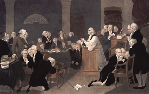 Founding Fathers Praying